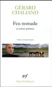 Feu nomade et autres poèmes - Couverture - Format classique