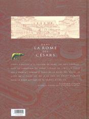 Dans la Rome des Césars - 4ème de couverture - Format classique
