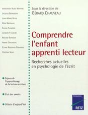 Comprendre L'Enfant Apprenti Lecteur ; Recherches Actuelles En Psychologie De L'Ecrit - Intérieur - Format classique