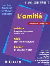 L'Amitie Programme 2001-2003 Prepas Scientifiques Aristote Gide Beckett - Intérieur - Format classique