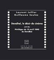 Stendhal, Le Desir De Cinema - Couverture - Format classique