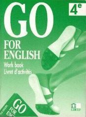 Go for english 4e / livret d'activites (afrique centrale) - Couverture - Format classique