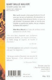 Glacee Jusqu'Au Zoo - 4ème de couverture - Format classique