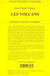 Les Volcans - 4ème de couverture - Format classique