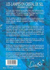 Les Lampes En Cristal De Sel ; Vitamines De L'Air ; 4e Edition - 4ème de couverture - Format classique