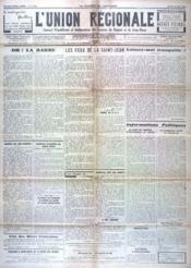 Union Regionale (L') N°1030 du 26/05/1938 - Couverture - Format classique