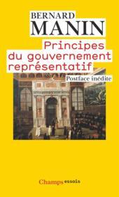 Principes du gouvernement représentatif - Couverture - Format classique