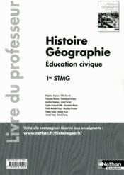 Histoire Geographie 1ere Stmg - Couverture - Format classique
