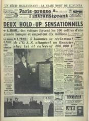 Paris Presse L'Intransigeant N°5676 du 09/03/1963 - Couverture - Format classique