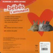 Touche Et Découvre ; Les Bébés S'Amusent - 4ème de couverture - Format classique
