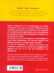 Les Structures D'Entreprise - 4ème de couverture - Format classique