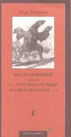 Mal et modernite - Couverture - Format classique
