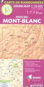 Pays Du Mont-Blanc 1/50.000 - 4ème de couverture - Format classique