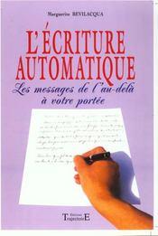 Ecriture Automatique - Intérieur - Format classique