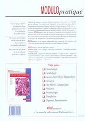 Maladies infectieuses - 4ème de couverture - Format classique