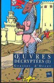 Oeuvres décryptées t.1 - Intérieur - Format classique