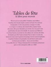 Tables De Fetes Et Idees Pour Recevoir - 4ème de couverture - Format classique