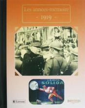 Les années-mémoires 1919 - Couverture - Format classique