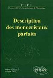 Description Des Monocristaux Parfaits - Intérieur - Format classique