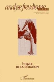 Analyse freudienne t.1 ; éthique de la déliaison - Couverture - Format classique