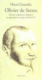 Olivier De Serres ; Gentil-Homme Champestre - Intérieur - Format classique