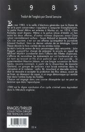1983 - 4ème de couverture - Format classique