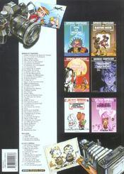 Spirou et Fantasio t.1 ; 4 aventures de Spirou - 4ème de couverture - Format classique
