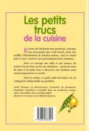 Les Petits Trucs De La Cuisine - 4ème de couverture - Format classique