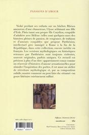 Passions d'amour ; erotika à Pathématha - 4ème de couverture - Format classique