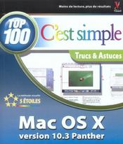Vente livre :  Mac Os X Panther 10.3  Top 100 C'Est Simple  - Chambers Mark L.