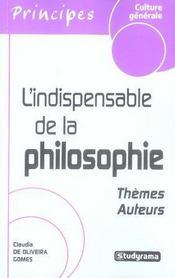 L'Indispensable De La Philosophie - Intérieur - Format classique