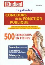 Le guide des concours de la fonction publique (édition 2001) - Intérieur - Format classique