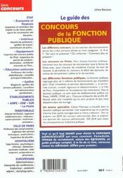 Le guide des concours de la fonction publique (édition 2001) - 4ème de couverture - Format classique
