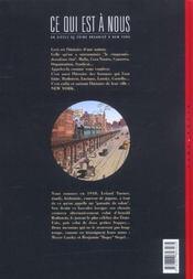 Ce qui est a nous ; première époque t.4 ; le pari - 4ème de couverture - Format classique