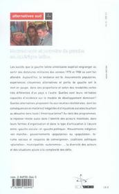 Mouvements Et Pouvoirs De Gauche En Amerique Latine - 4ème de couverture - Format classique