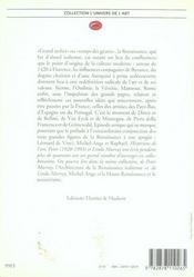 L'art de la Renaissance - 4ème de couverture - Format classique