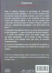 Christophe,Resonances De L'Inconnu - 4ème de couverture - Format classique
