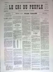 Cri Du Peuple (Le) N°23 du 24/03/1871 - Couverture - Format classique