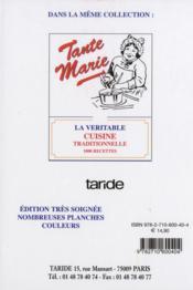 La pâtisserie traditionnelle de tante Marie - 4ème de couverture - Format classique