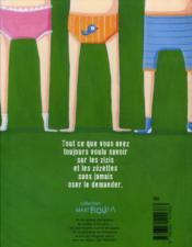 Zizi, zézette : mode d'emploi - 4ème de couverture - Format classique