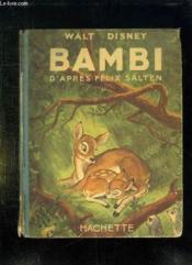 Bambi. - Couverture - Format classique