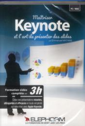 Vente livre :  Maitriser Keynote Et L'Art De Presenter Des Slides. Formation Video En 3h. Dvd-Rom Pc-Mac  - Mathias Emmanue