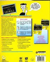 Business Plans Pour Les Nuls - 4ème de couverture - Format classique