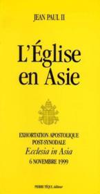 L'Eglise En Asie - Ecclesia In Asia - Couverture - Format classique