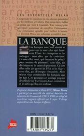 La Banque - 4ème de couverture - Format classique