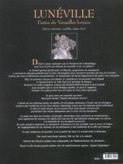 Luneville T2-Faste Du Versailles Lorrain - 4ème de couverture - Format classique