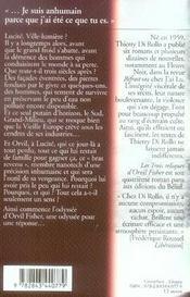 Les Trois Reliques D'Orvil Fisher - 4ème de couverture - Format classique