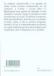 La Foule C Est Le Mensonge - 4ème de couverture - Format classique
