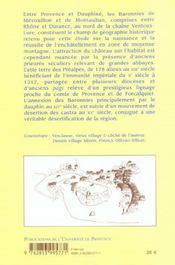 Châteaux, villages, terroirs en Baronnies, Xe-XVe siècle - 4ème de couverture - Format classique