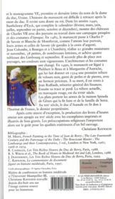 Les tres riches heures du duc de Berry ; dans ce joyau du gothique international se croisent des influences flamandes, rhénanes, française, italienne, orientales et antiques - 4ème de couverture - Format classique